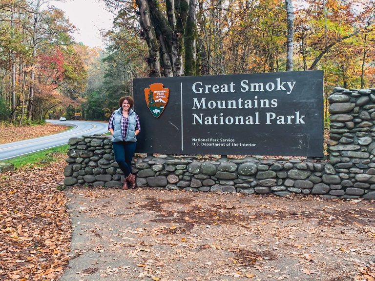 great smoky mountains street sign