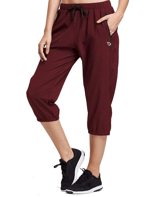 red quick-dry hiking pants
