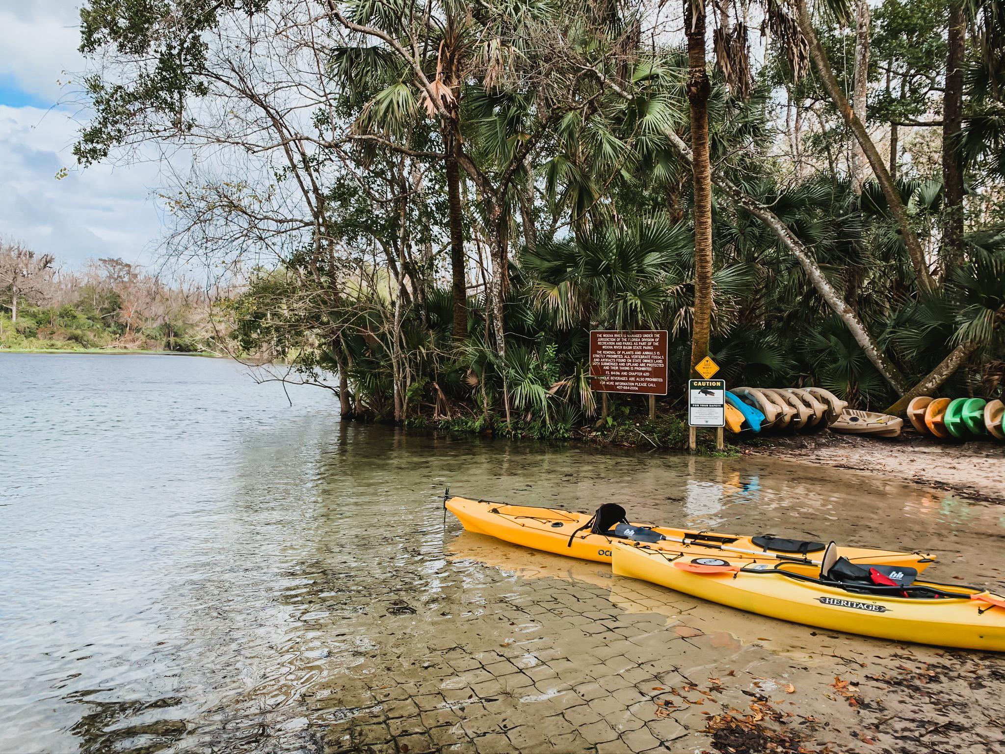 kayaking in florida springs