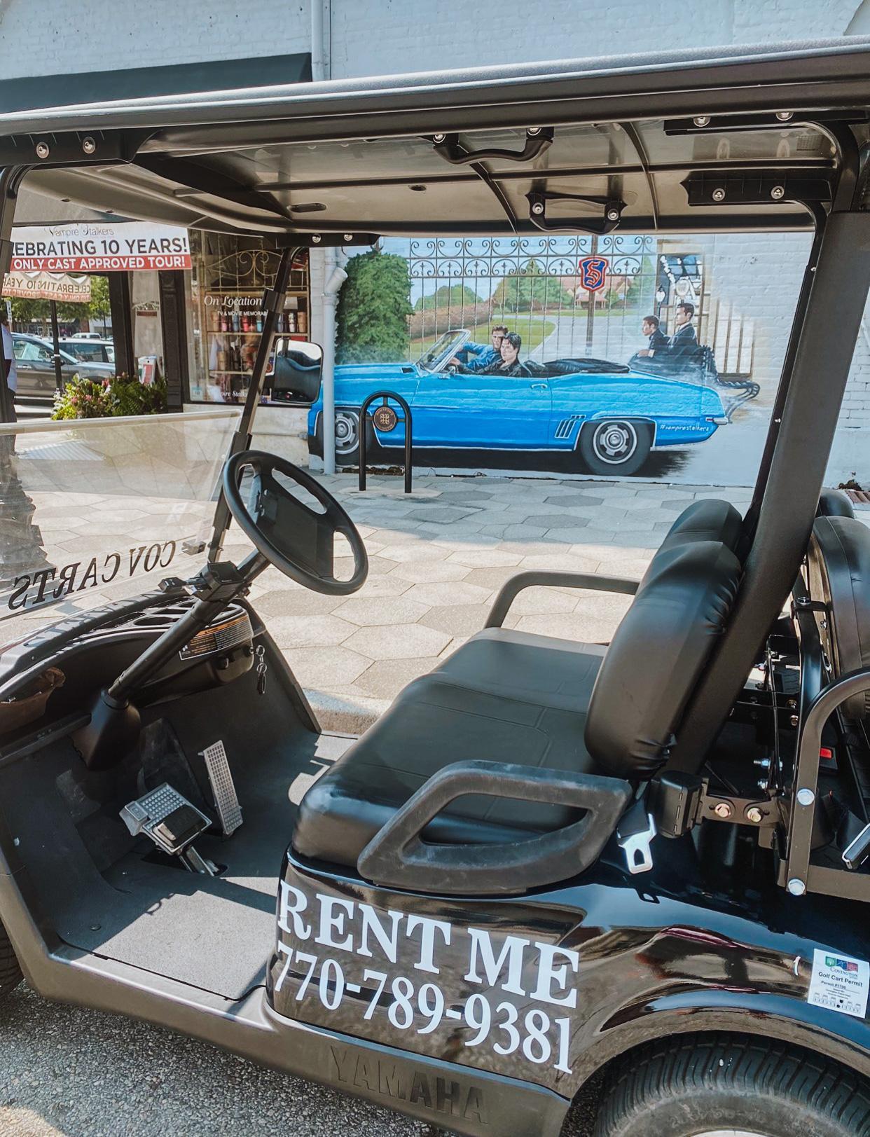 self-guided golf cart tour of mystic falls