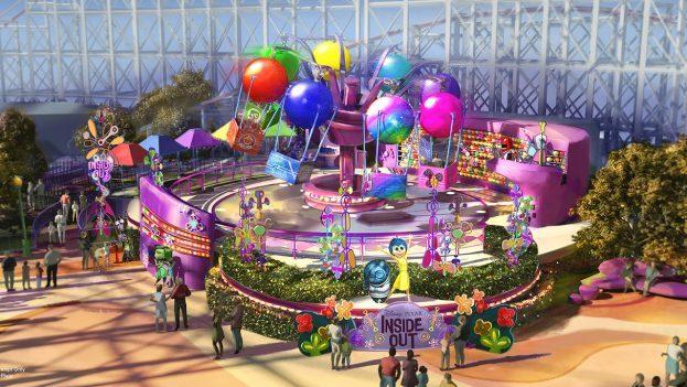 Inside Out Ride Pixar Pier