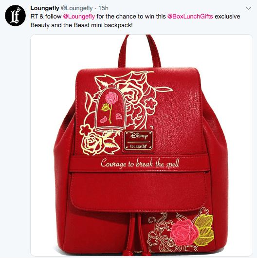 Win an Exclusive Beauty and The Beast Mini Backpack