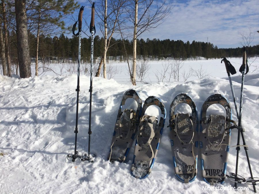 Snowshoeing in Pallas nationalpark