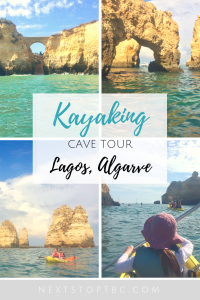Pin for later: Lagos kayaking cave tour