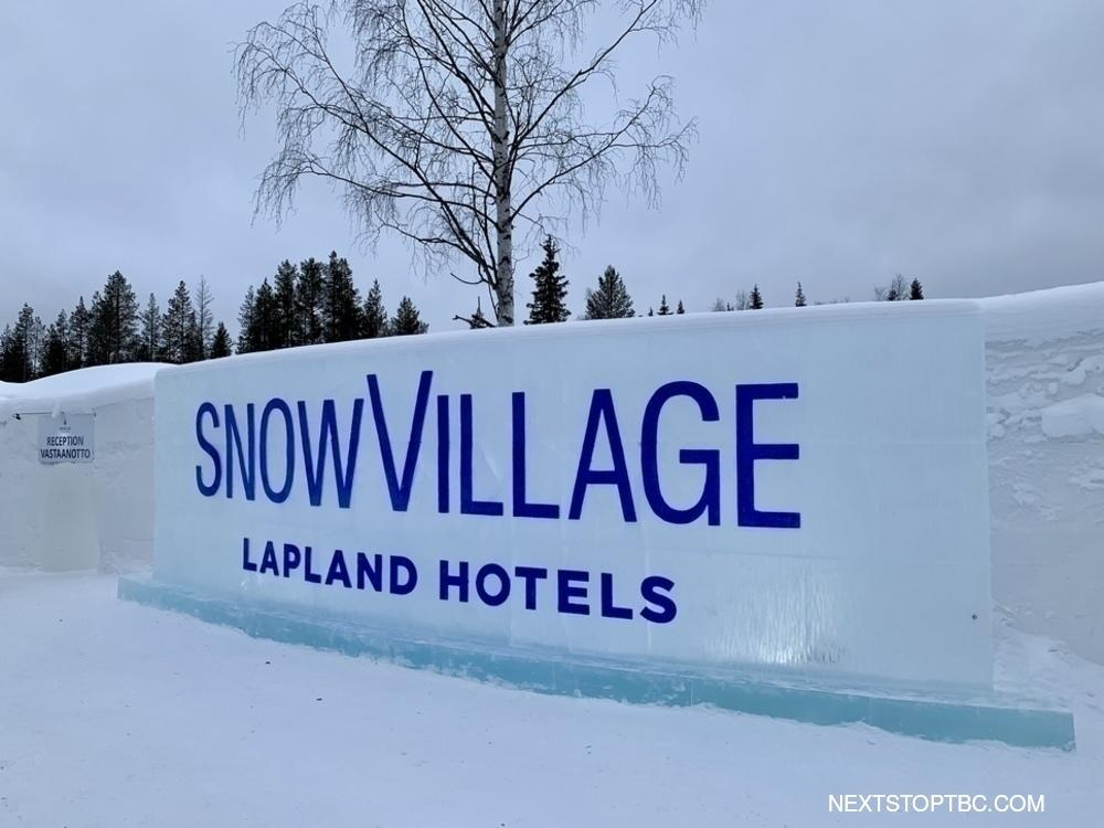 Yllas Snowvillage entrance