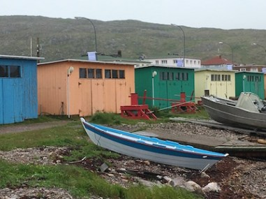 salines - fishing shacks - in St. Pierre