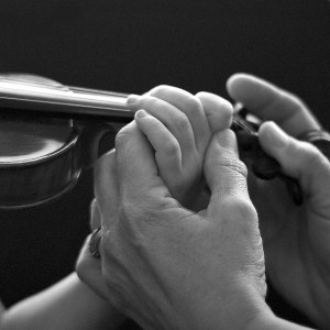 Teaching violin finger placement