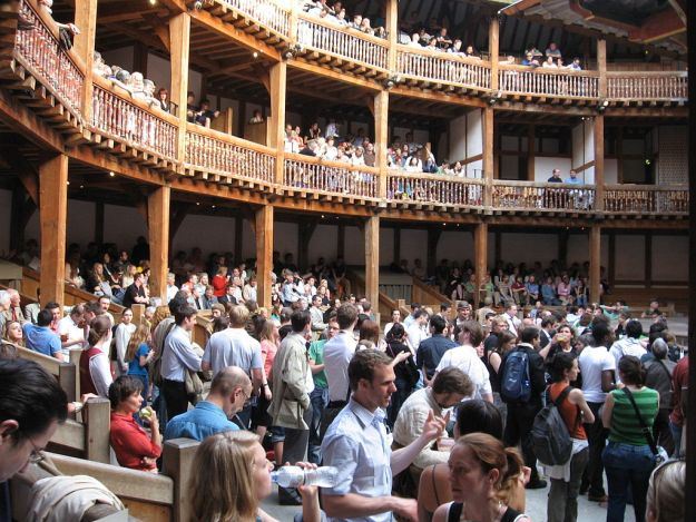 Globe theater audience