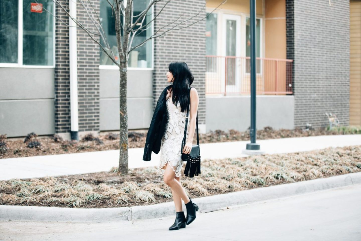 Blogger Nita Mann from Next With Nita shares her animal-friendly faux leather jacket and bag!
