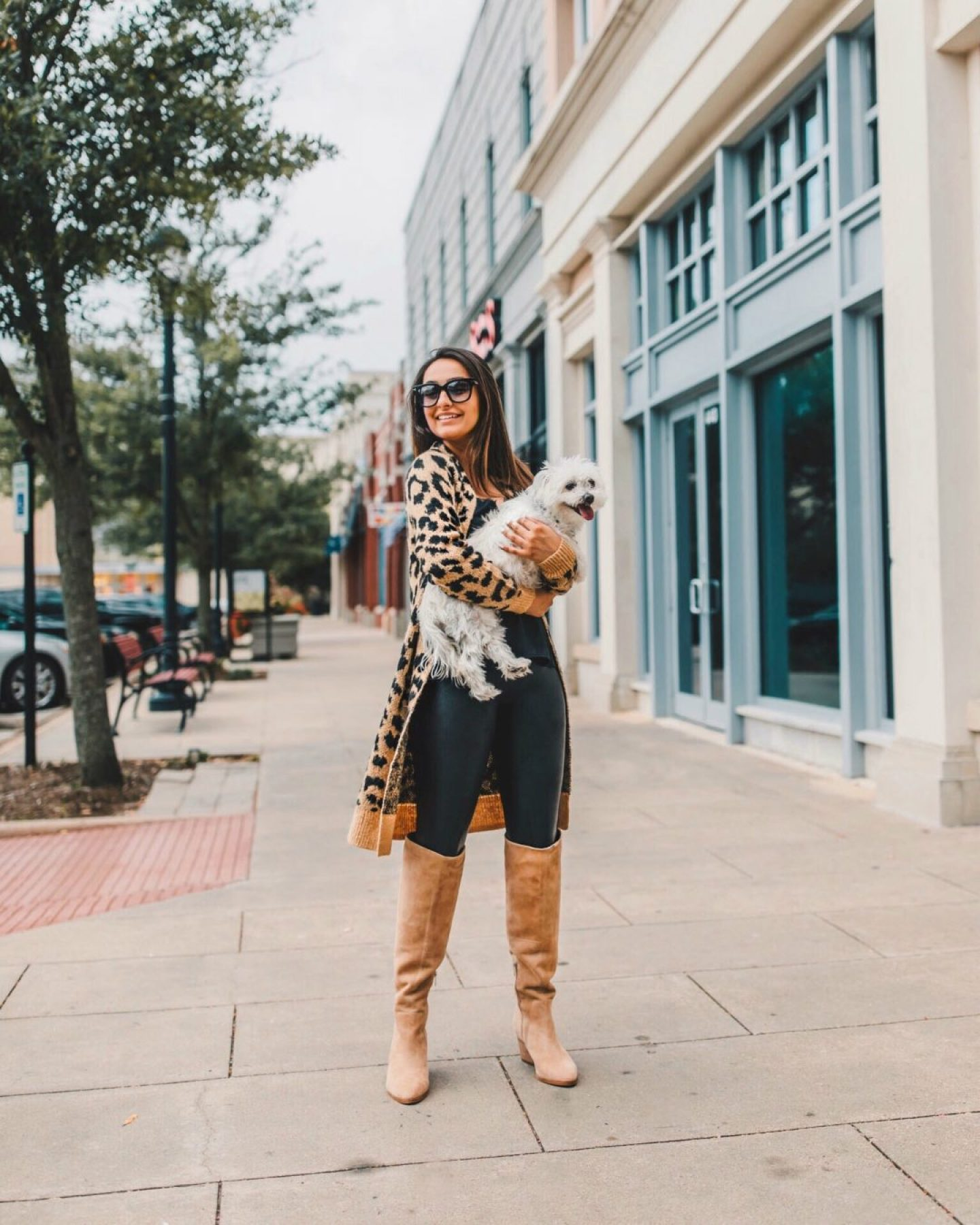 Nsale BP leopard caridgan and vince camuto boots