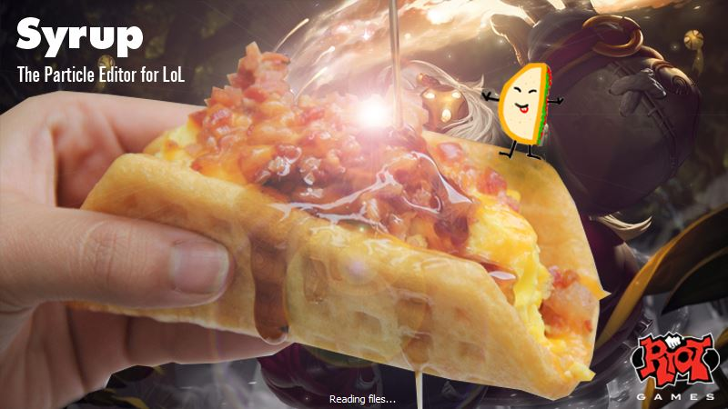 Yes, the old tool was called Syrup, and yes, that is a breakfast taco with a cartoon taco standing on it.