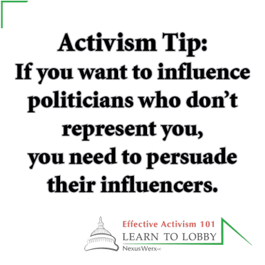 Activism Training Tip from Learn to Lobby. March for Our Lives students need to engage in second-degree advocacy.