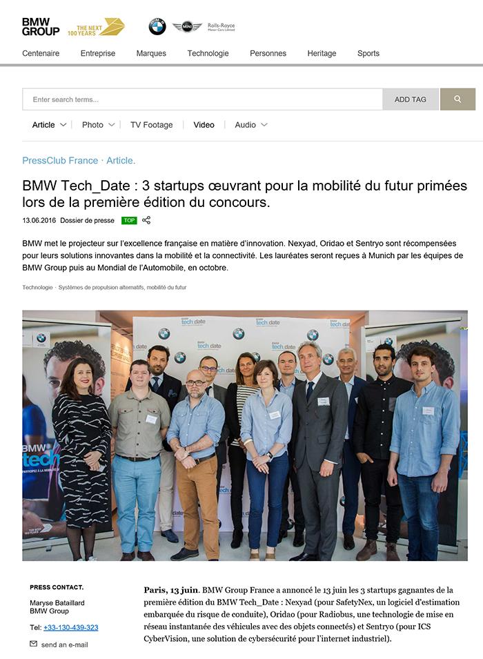 BMW Communiqué Presse