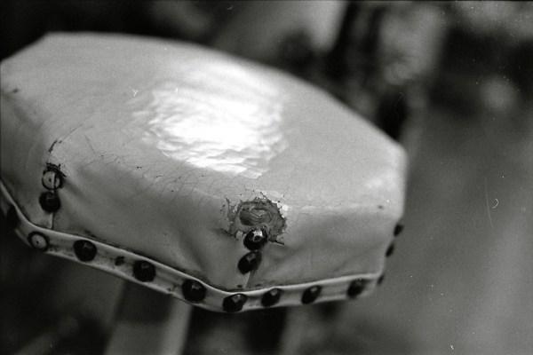 leather stool