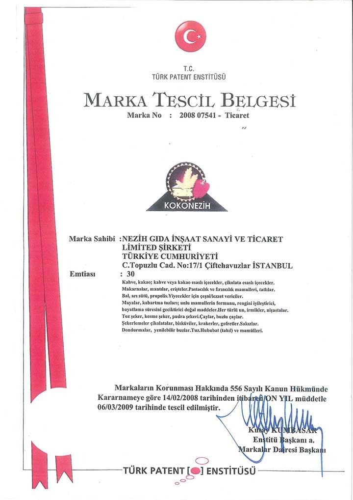 Marka Tescil Belgesi – 2