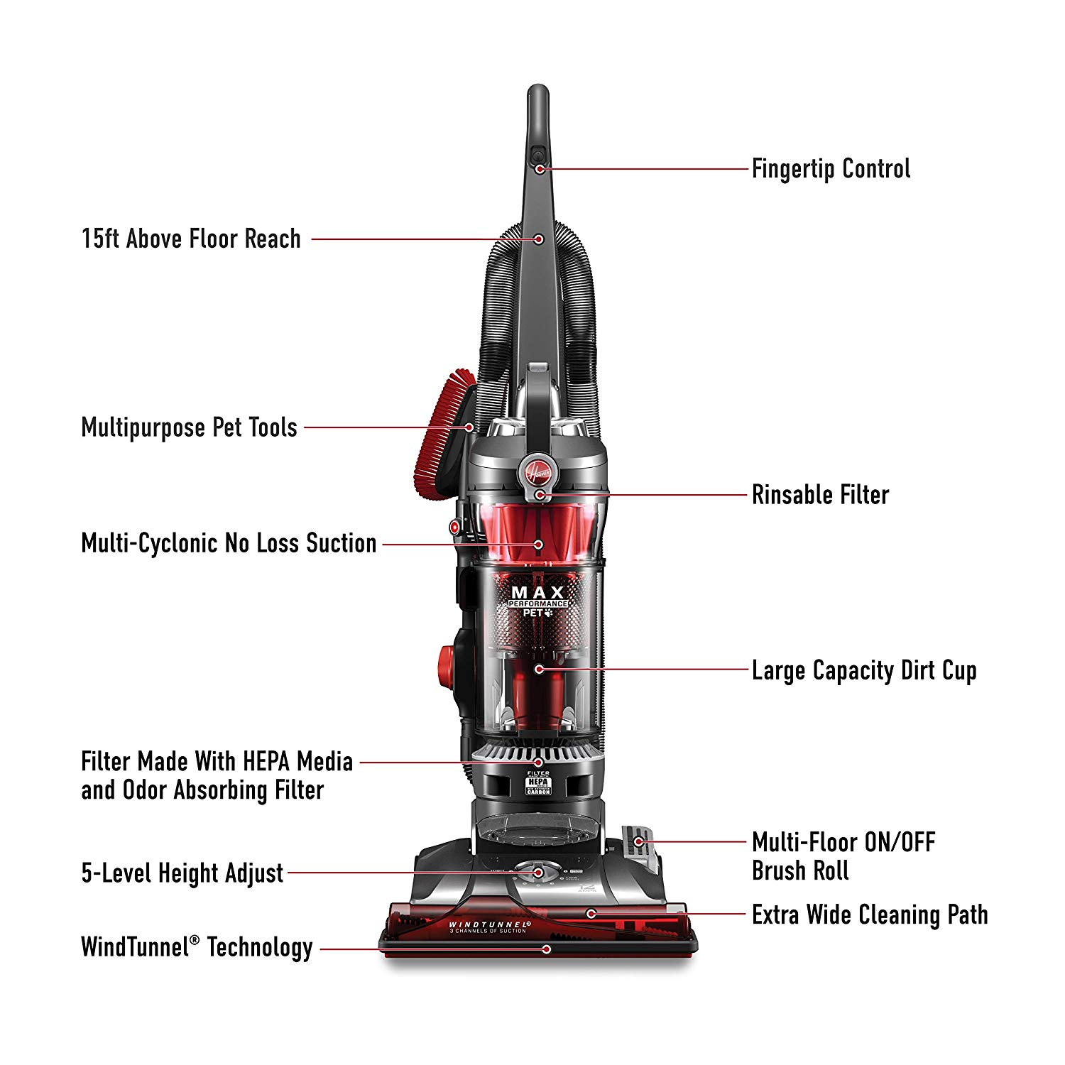 Hoover UH72625 Windtunnel 3 Max Performance Pet Upright