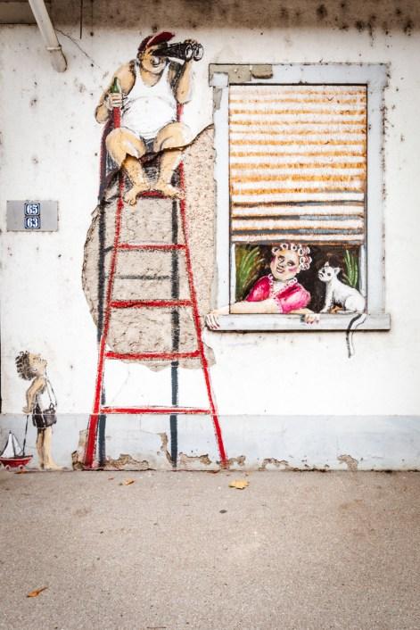 Fassadenbemalung Ursula Knapp
