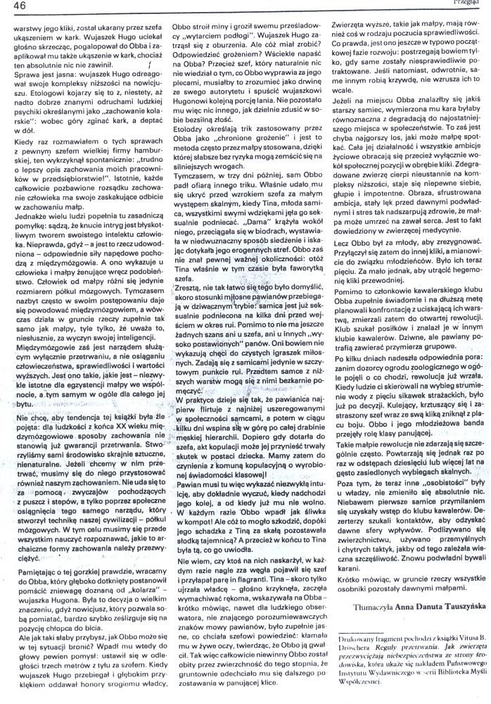 Klika pawianów, czyli sceny z życia akademickiego (4/4)