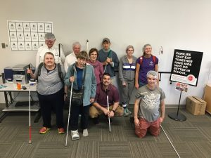 A picture of 10 Heartland Meals participants, including Dana Aard