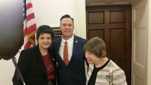 Dana Ard & Erin Olsen with Rep. Russ Fulcher