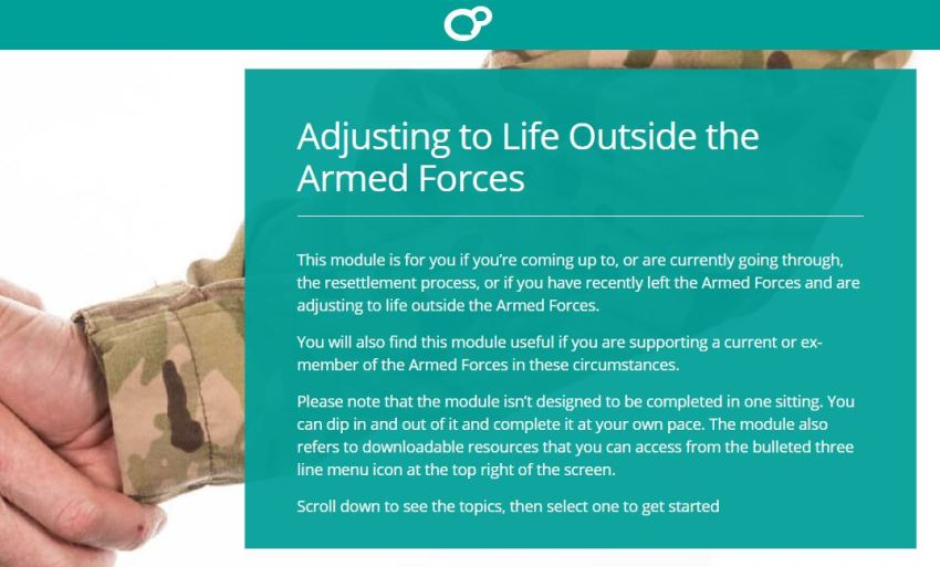 Adjusting to life outside the military poster.