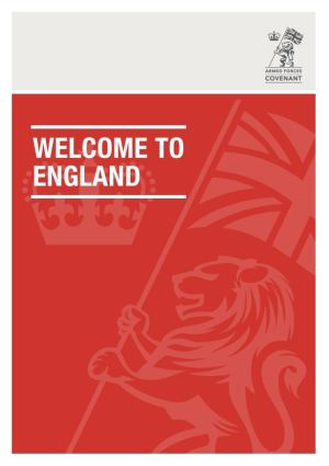 Welcome to England poster.