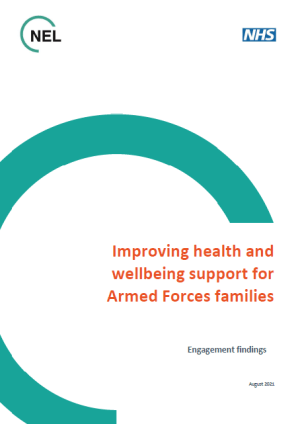Front cover of the NHS report