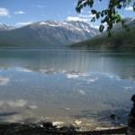 rare day of no wind on Kintla Lake
