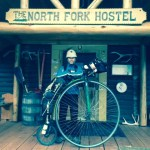 in front of the North Fork Hostel
