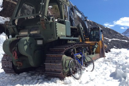 Plowing Equipment on Going-to-the-sun road
