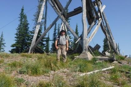 Regi in front of the Coal Ridge Lookout