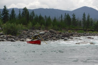 coming out of the Kintla rapids