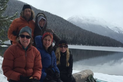 quite the crew at Bowman Lake