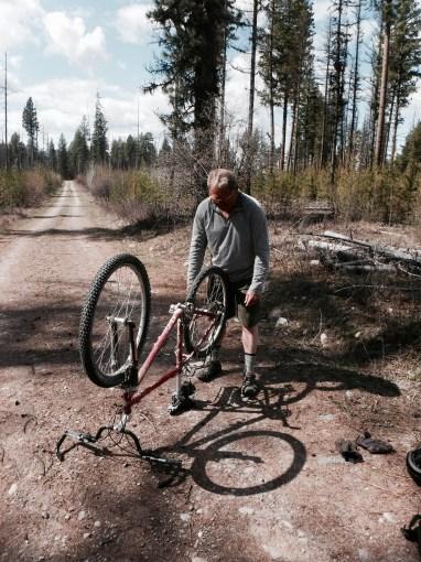 Flat tire- Wach auf!