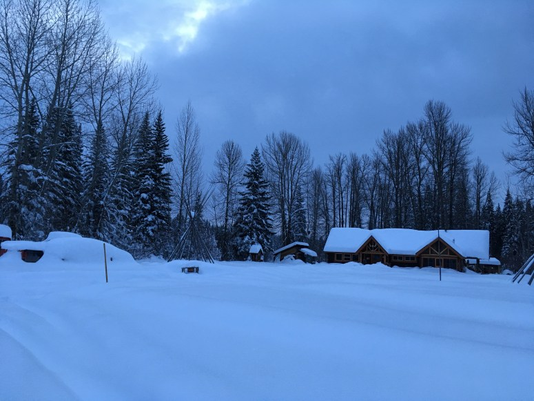 "hostel in 30"" of snow"