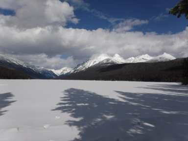 Bowman Lake early March