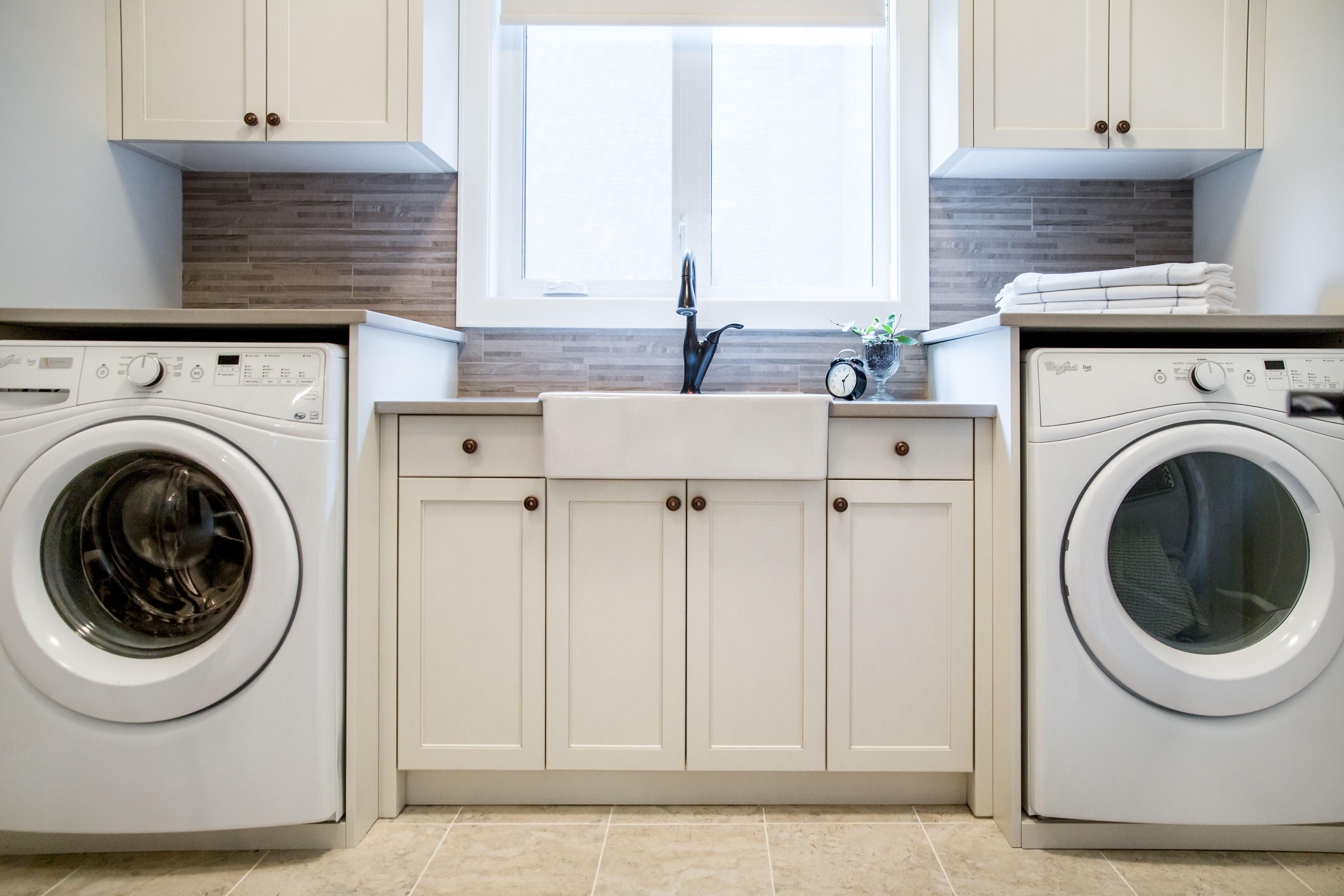 Laundry Room Renovation by Kelowna Interior Designer » Natalie Fuglestveit Interior Design