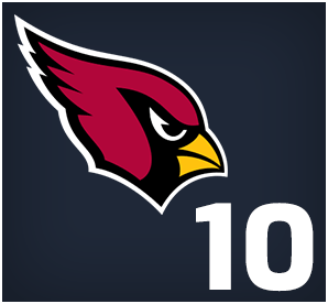 Arizona Cardinals : 10