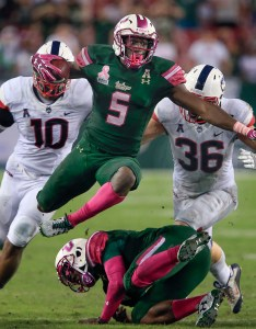 Oct tampa fl usa south florida bulls running back marlon mack leaps over his own man on the way to end zone score as connecticut also indianapolis colts projected depth chart after nfl draft page rh nflspinzone