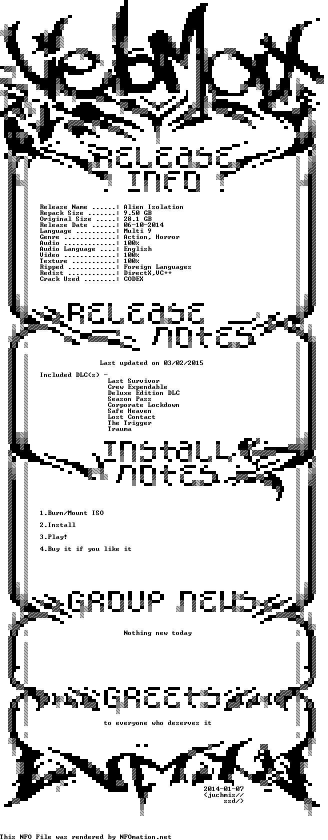 Download Alien.Isolation.Repack[Update 8][7 DLC]-VEBMAX