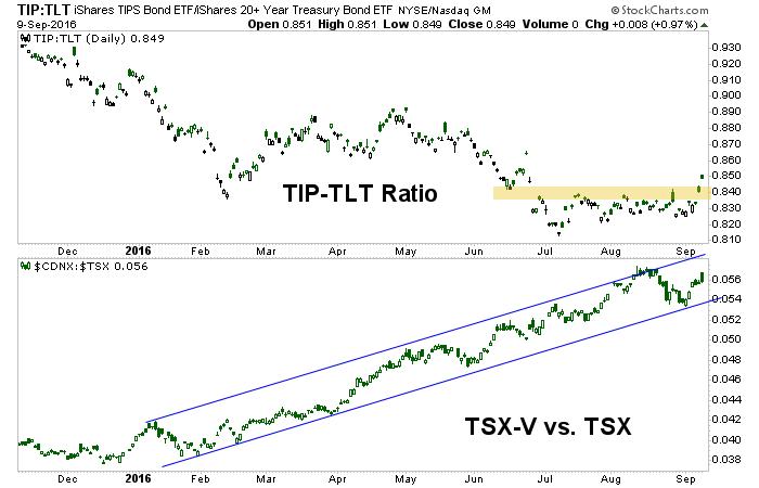 tip, tlt, cdnx and tsx