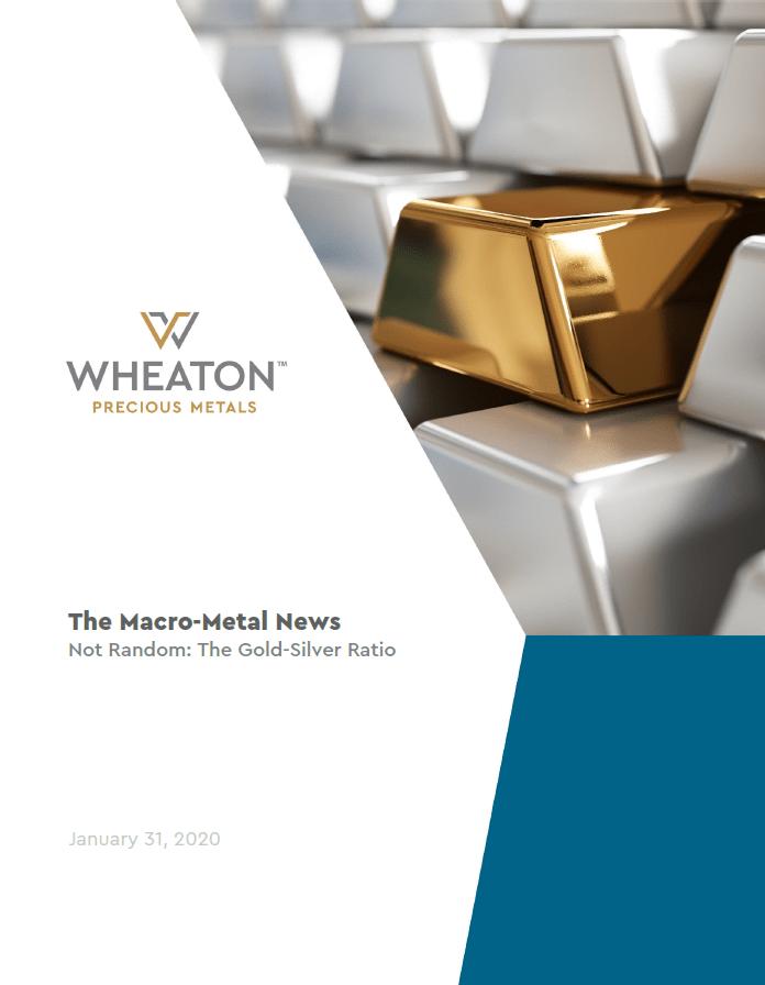 wheaton precious metals, gold/silver ratio