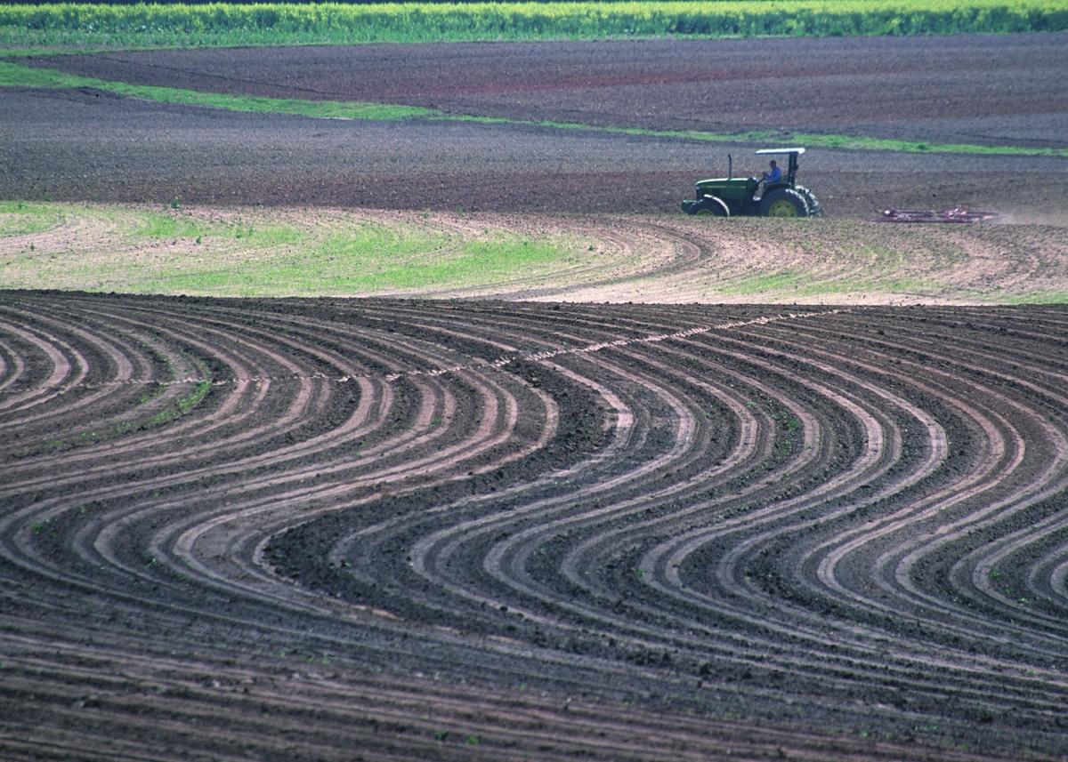 Contour plowing for Terrace farming diagram