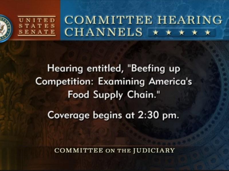 President Larew's testimony at Senate Judiciary