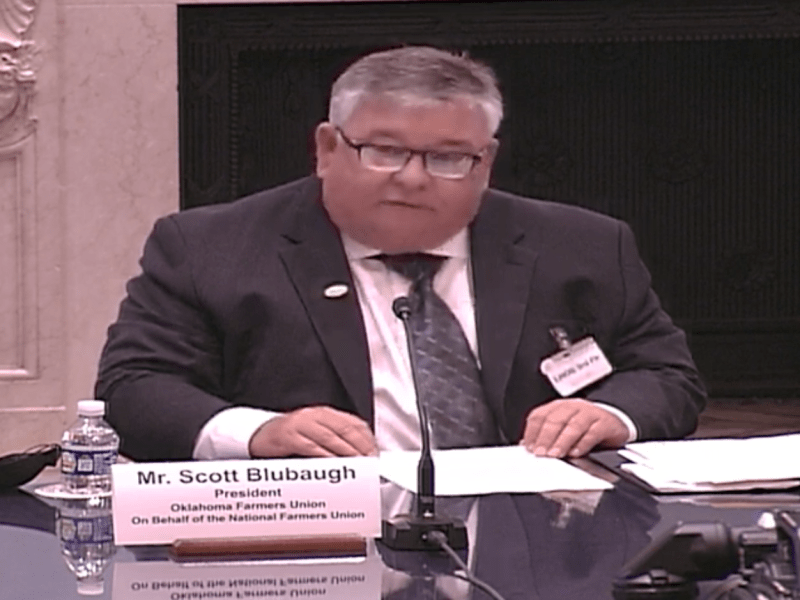 Oklahoma Farmers Union President Testifies Before the House Agriculture Committee