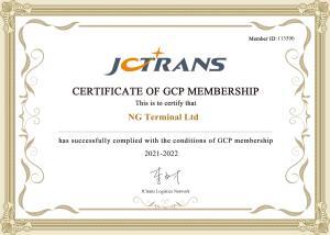 NG TERMINAL JC TRANS CERTIFICATE