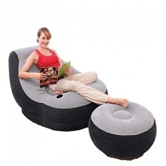 Intex Air Chair Parson Chairs With Arms Inflatable Foot Rest And Pump Ultra Lounge