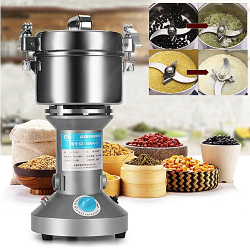 electric grinder kitchen slate floor generic 1000g grain cereal mill flour coffee food wheat machine silver