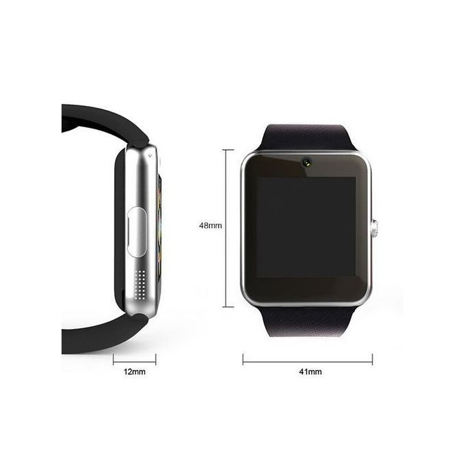 Generic GT08 Wearables Smart Watch With Hands Free Call Phone Clock Push Message For IOS And Android   Black price in Nigeria