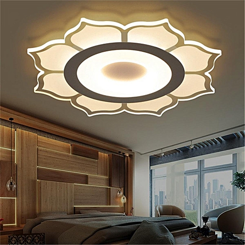 led ceiling light living room sectional furniture sets generic modern simple square acrylic bedroom home lamp full warm